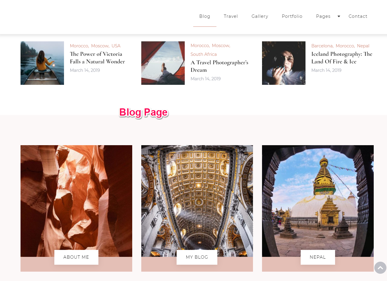 Blog Page Demo Blossom Travel Pro