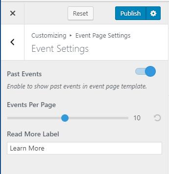 Configure event settings blossom coach pro