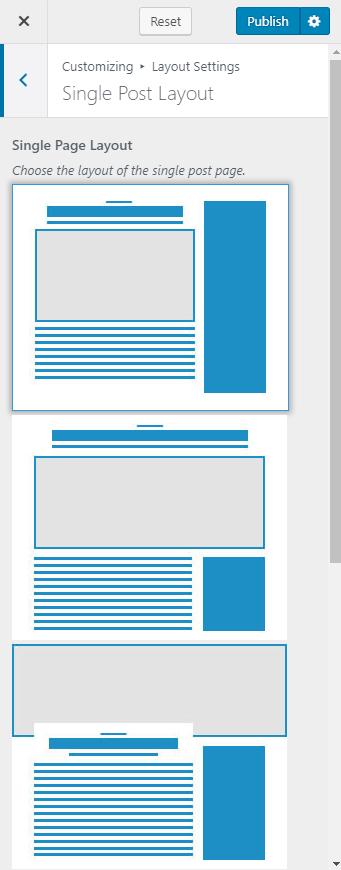 Configure single post layout blossom fashion pro