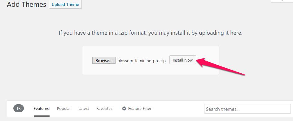Install Now Blossom Feminine Pro