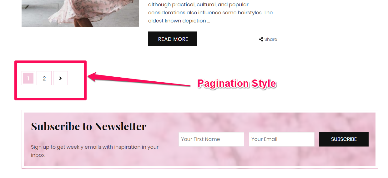 Pagination style