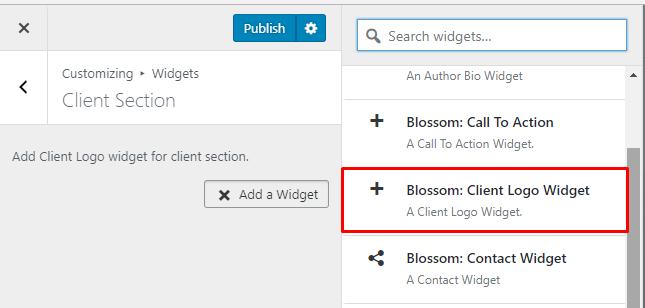 Select Blossom Client Logo Widget