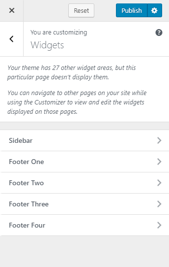 Select the location to add widget
