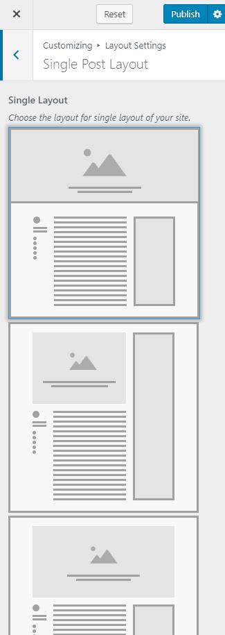 Single post layout