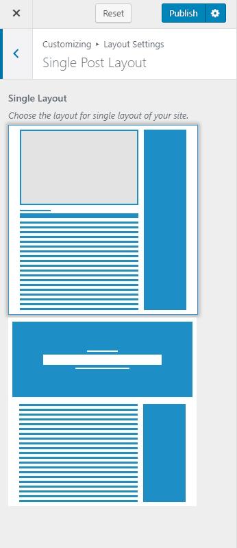 Single post page layout