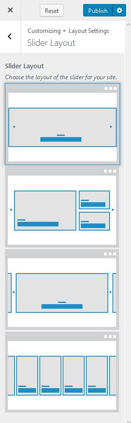 change the slider layout blossom feminine pro