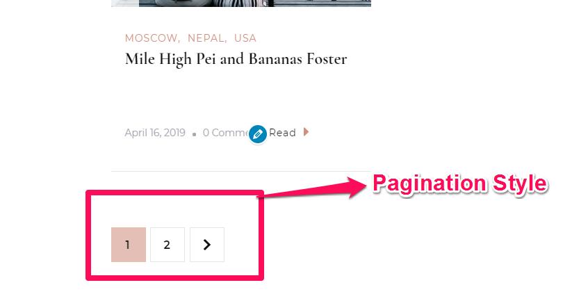 pagination style demo