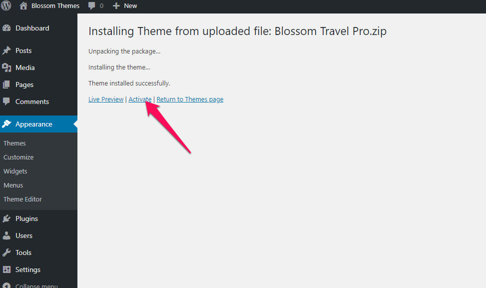 Activate Blossom Travel pro