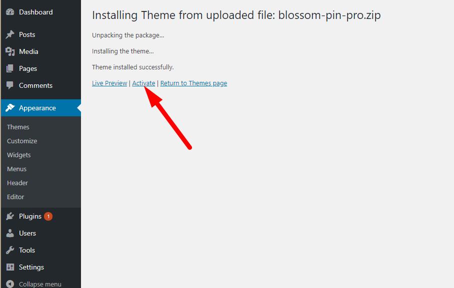 Activate blossom pin pro