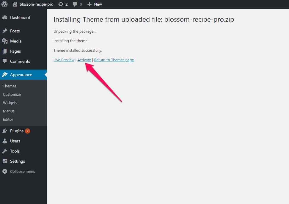 Activate Blossom recipe pro