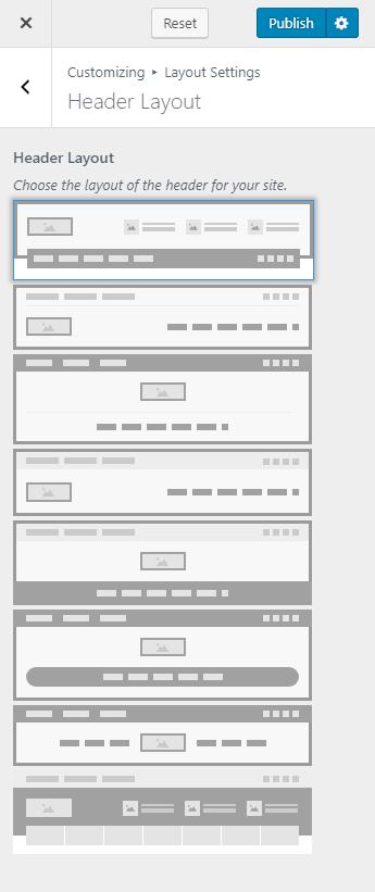 Change header layout blossom spa pro