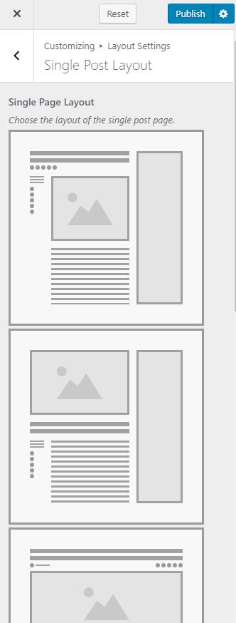 Change single post page layout