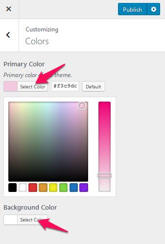 Change theme color blossom feminine