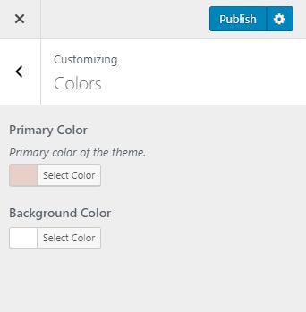 Configure theme color