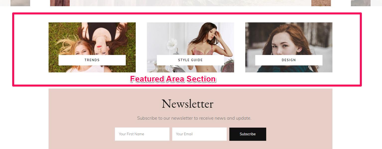 Featured area section fashion diva