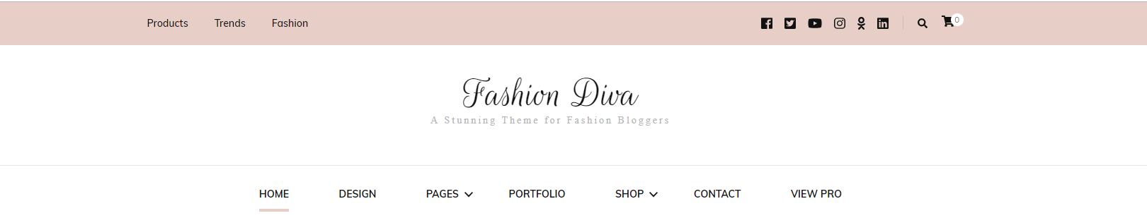 Header section fashion diva