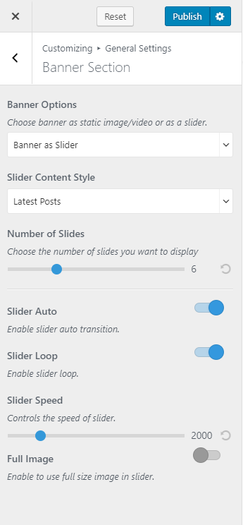 Slider-as-latest-posts blossom pin pro
