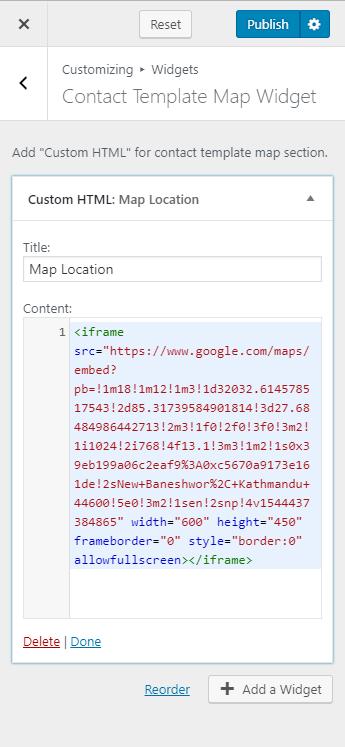 configure map