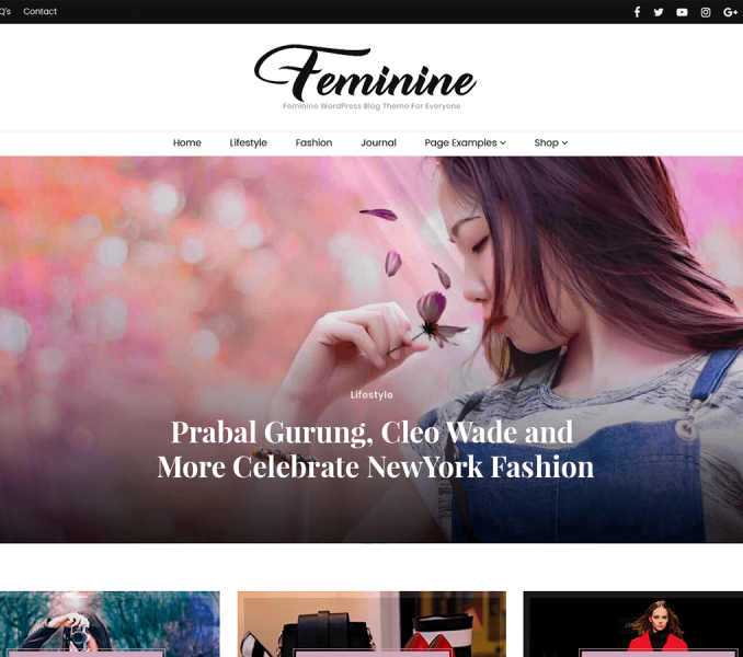 Blossom Feminine Free Theme Documentation