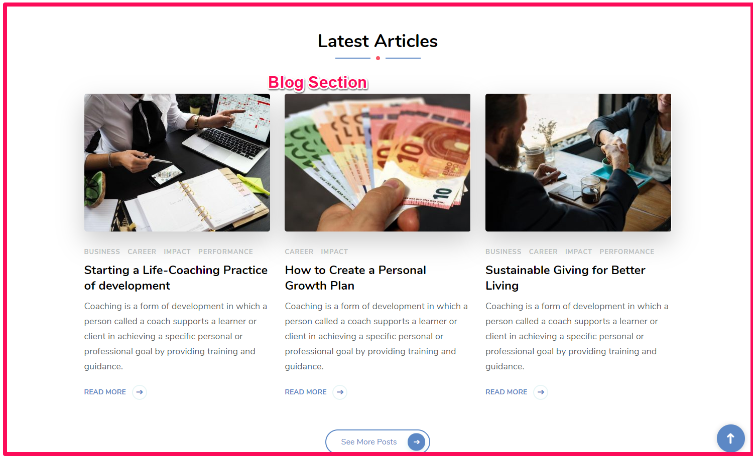 Blog section demo blossom consulting