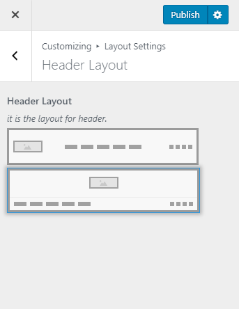 Change header layout blossom pinit