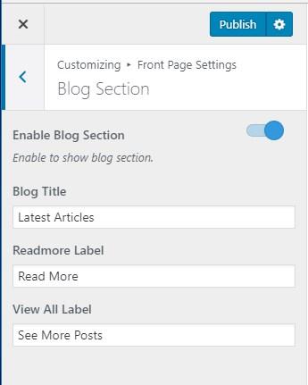 Configure blog section blossom coach