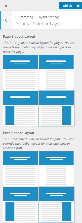 General sidebar layout blossomthemes