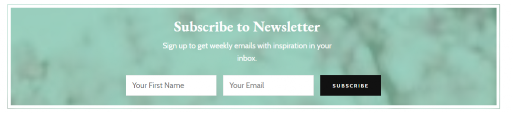 Newsletter section demo blossom mommy blog