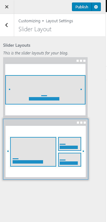 Slider layouts blossom mommy blog