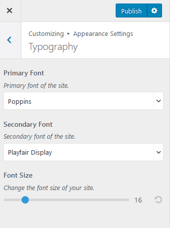 configure typography settings blossom pin