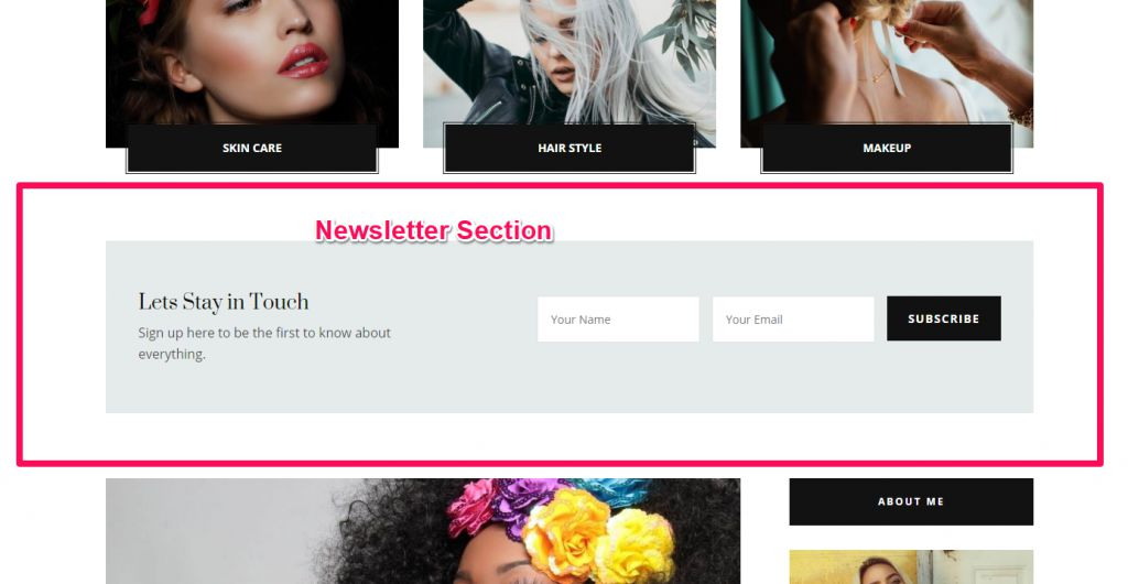 Newsletter demo blossom diva