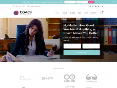 Blossom Coach Free WordPress Theme Documentation