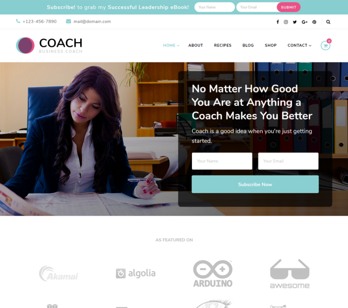 Blossom Coach Free WordPress Theme Documentation