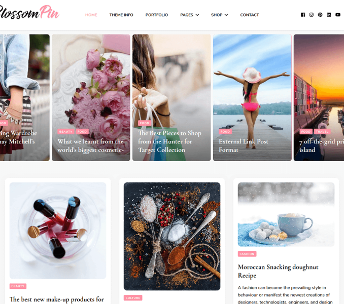 Blossom pin Free wordpress theme