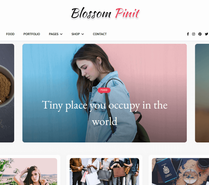 Blossom PinIt Free WordPress Theme