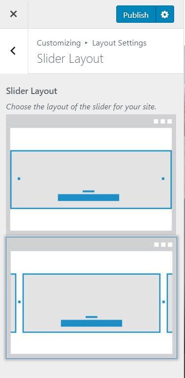 slider layout blossom chic theme
