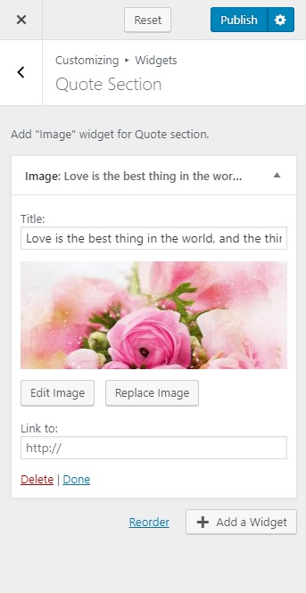 Configure quote section blossom wedding pro
