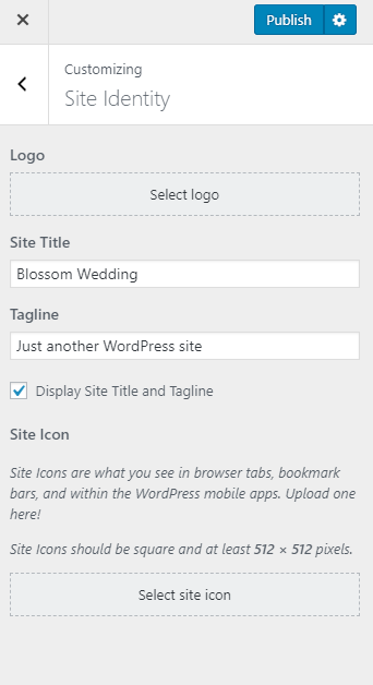 Configure site identity