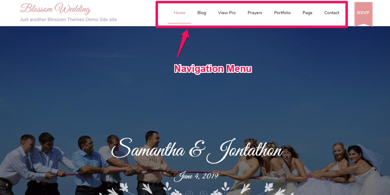 Navigation menu demo
