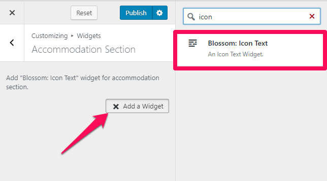 Select blossom icon text