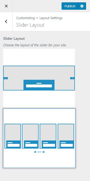 Slider layout