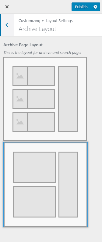 Archive Layout