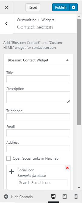 contact template - contact widget