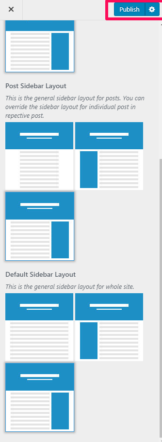General Sidebar Layout