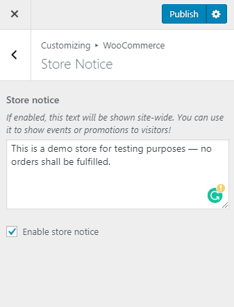 Store notice