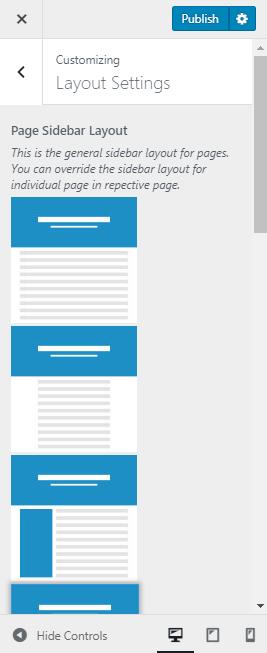 general sidebar layout