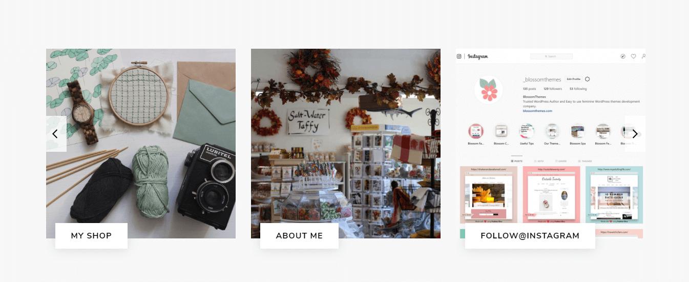 blog featured area