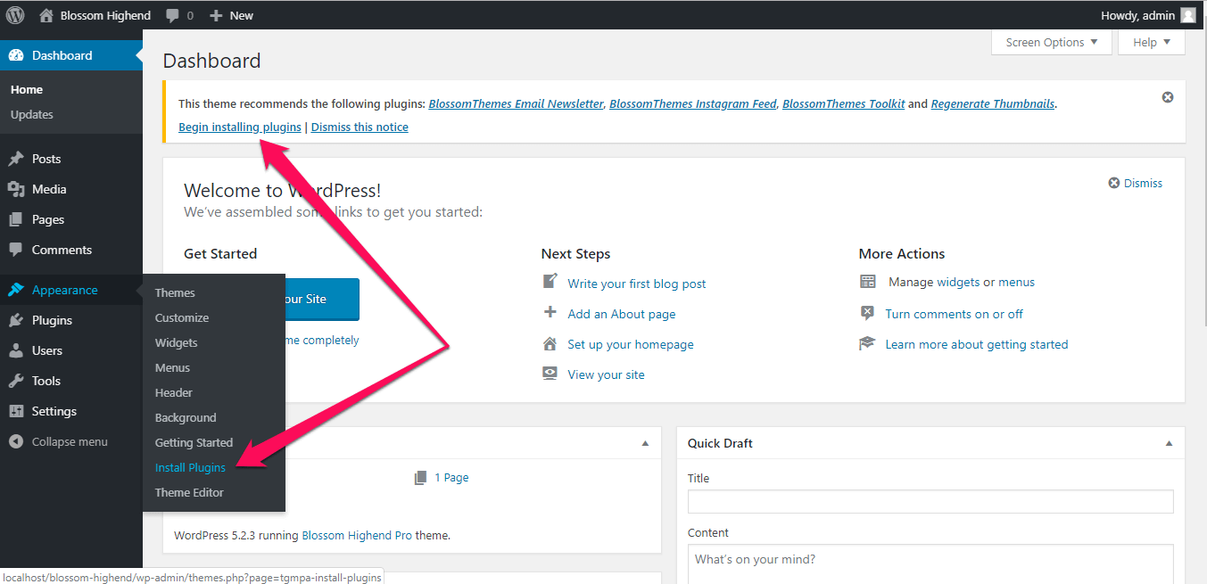 install recommended plugins