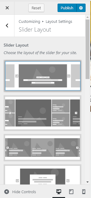 slider layout